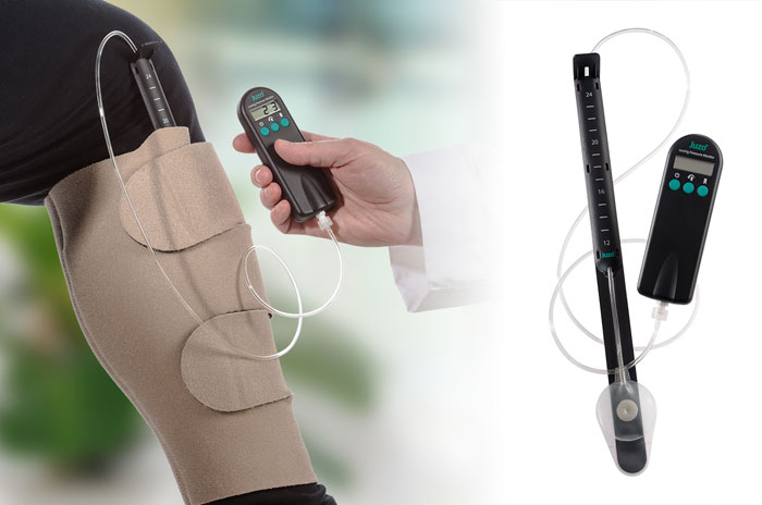 The Juzo Compression Wrap and Pressure Monitor is a medical device designed by Design Interface Inc.