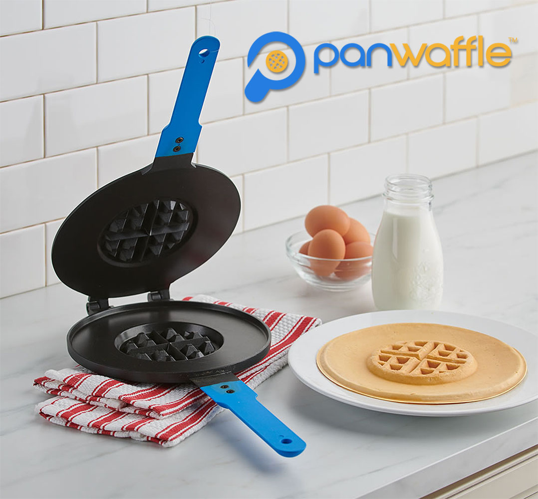 Product design of the Panwaffle - a skillet that create a hybrid waffle and pancake.