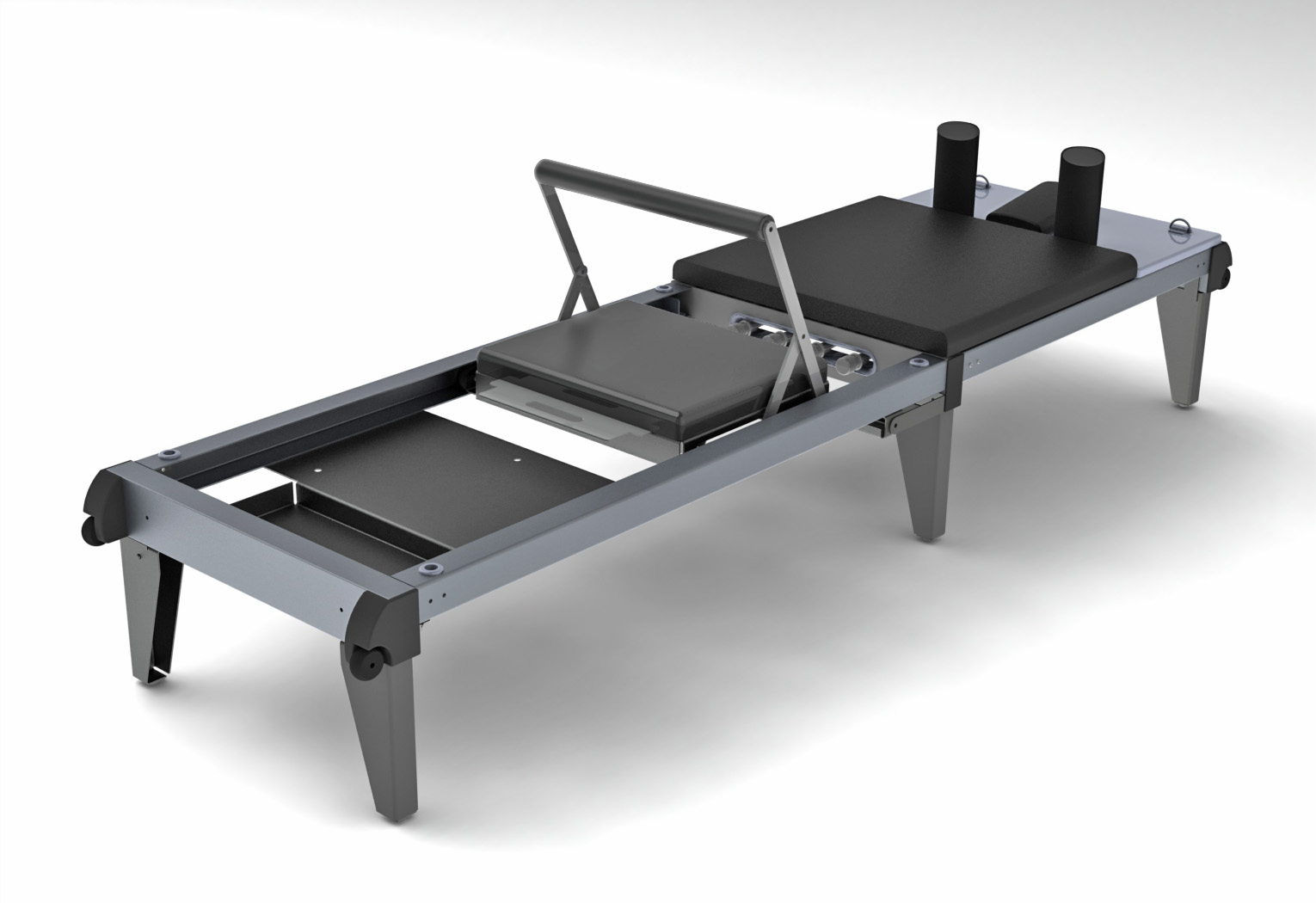Product design for a pilates workout table.