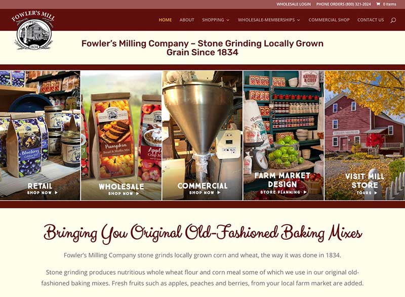 Fowler's Mill Website Redesign