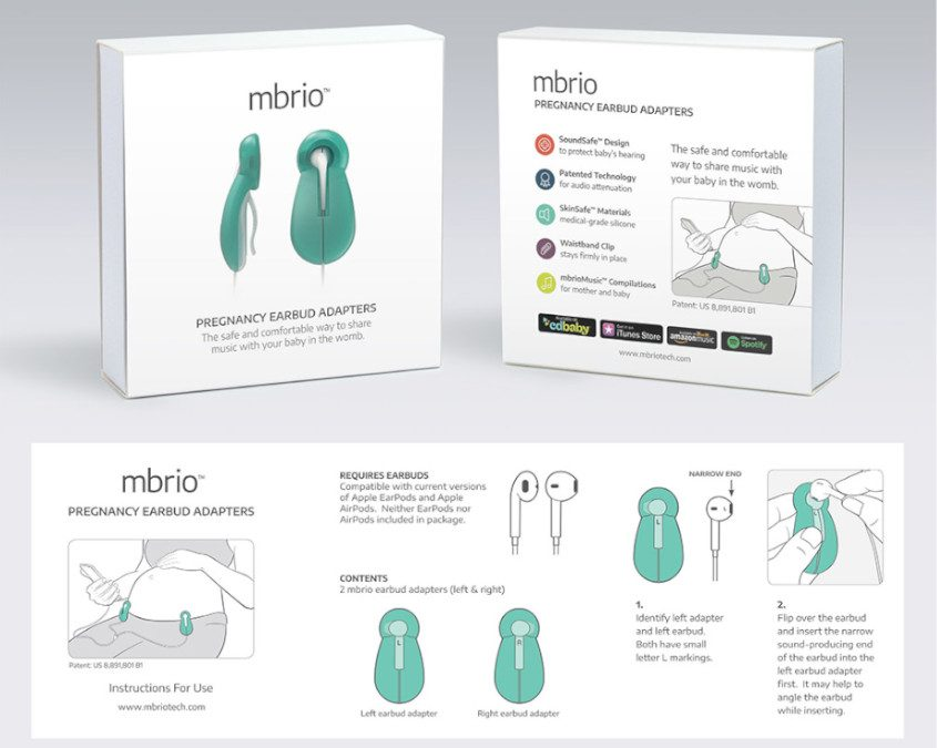 mbrio Pregnancy Earbud Adapters + DI Package Design